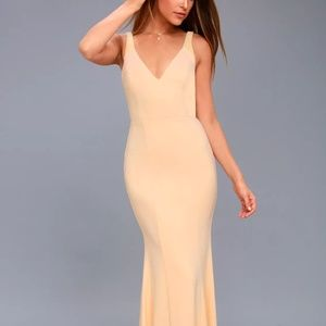 NUDE BEADED MAXI DRESS- NEW WITH TAGS